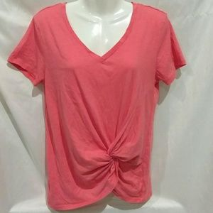 Altar'd State Pink Knotted Twist T-shirt sz Small